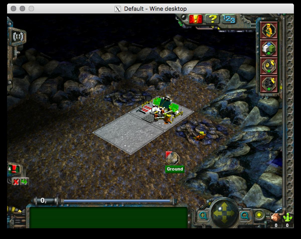 Screenshot of Lego Rock Raiders running under Wine